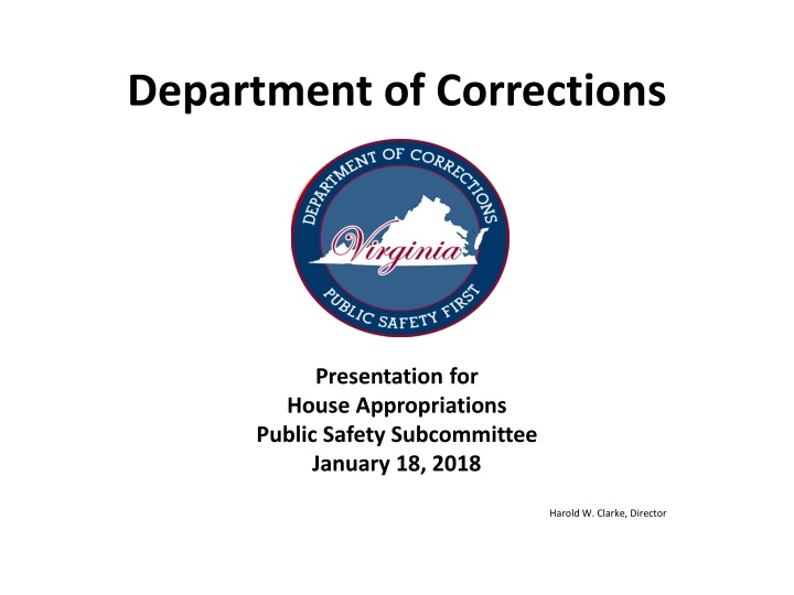 department of corrections n.