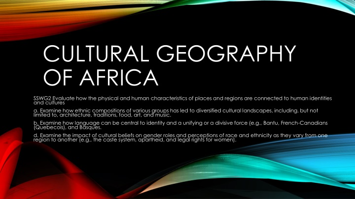 cultural geography of africa n.