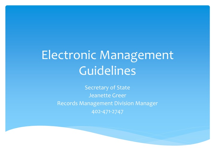 electronic management guidelines n.