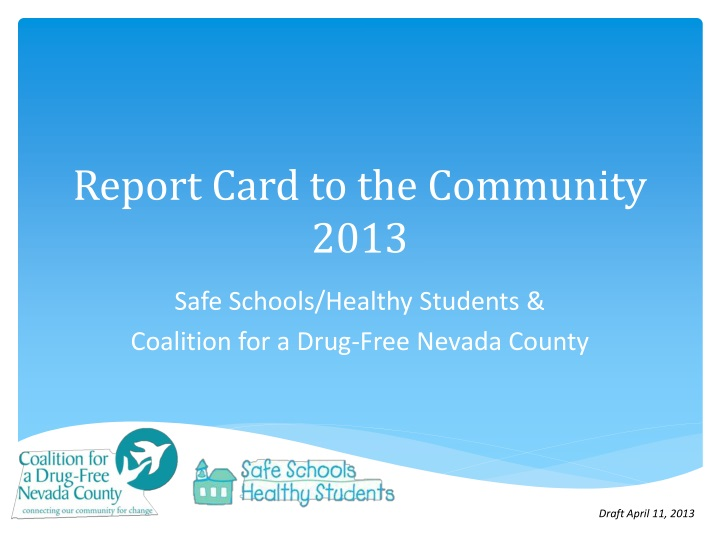 report card to the community 2013 n.