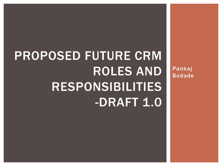 proposed future crm roles and responsibilities draft 1 0 n.