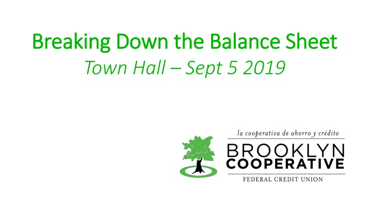 breaking down the balance sheet town hall sept n.