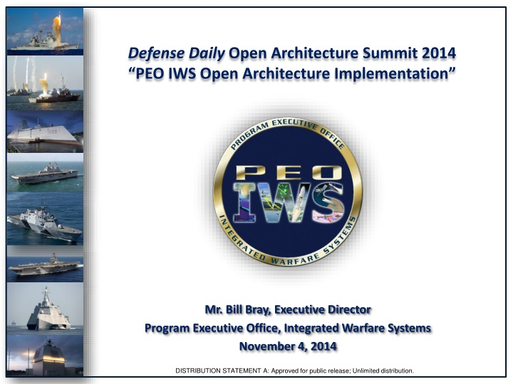 defense daily open architecture summit 2014 peo iws open architecture implementation n.