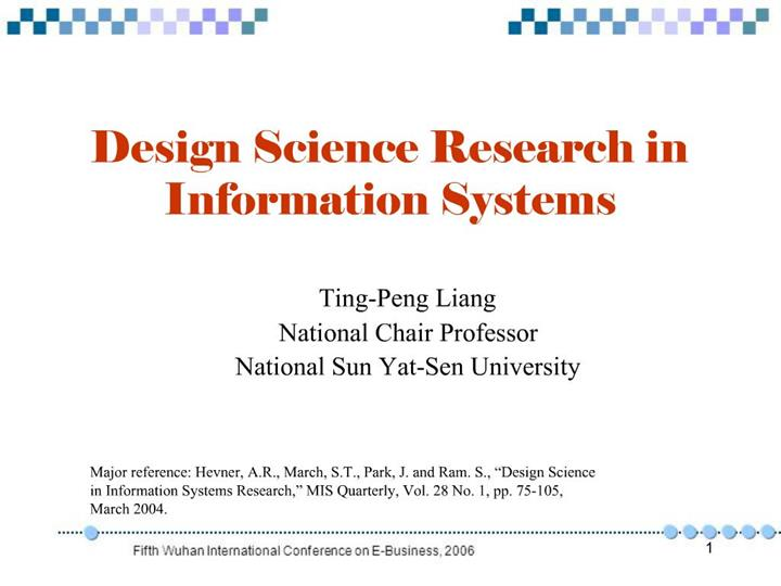 Ppt Design Science Research In Information Systems Powerpoint Presentation Id 363440