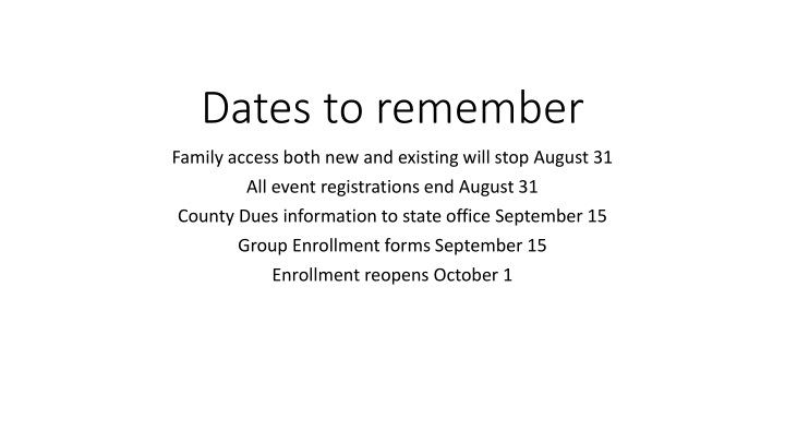 dates to remember n.