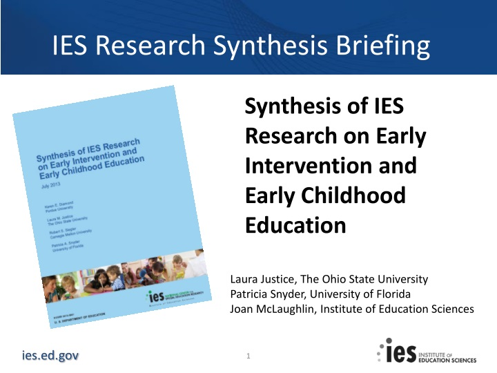 ies research synthesis briefing n.