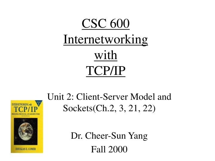 csc 600 internetworking with tcp ip n.