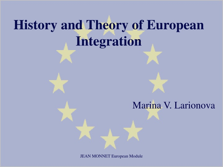 history and theory of european integration n.