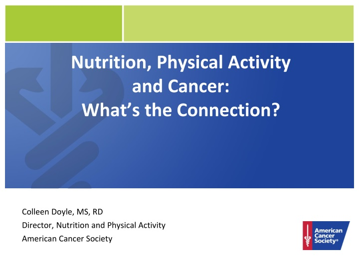 nutrition physical activity and cancer what s the connection n.