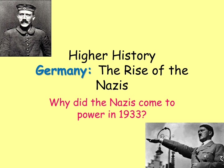 higher history germany the rise of the nazis n.