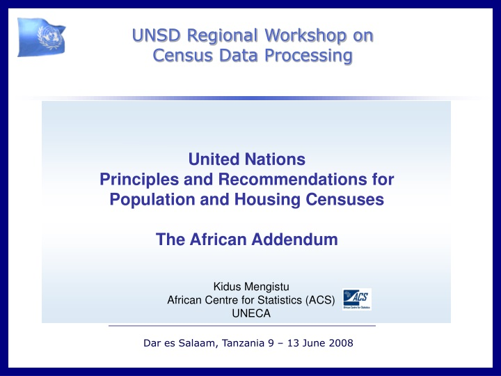 united nations principles and recommendations n.