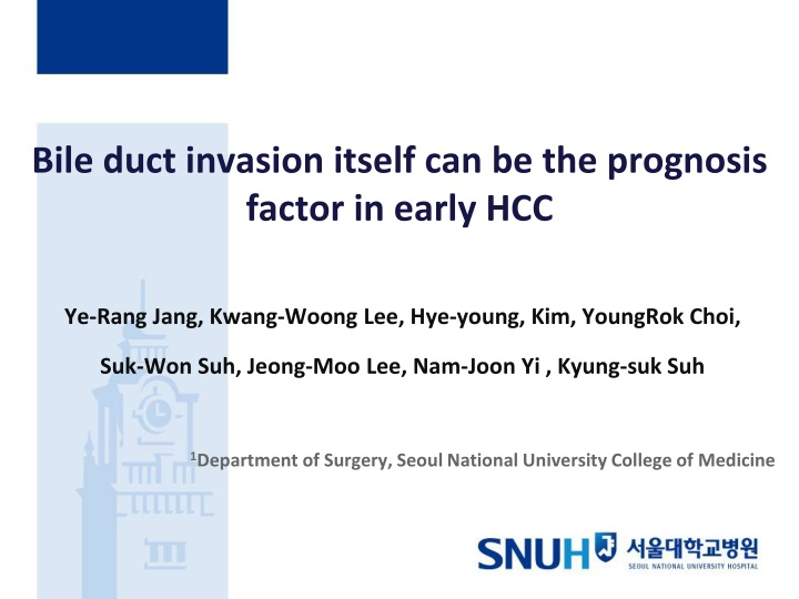 bile duct invasion itself can be the prognosis factor in early hcc n.