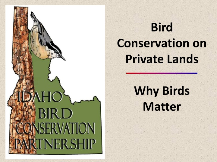 bird conservation on private lands why birds n.
