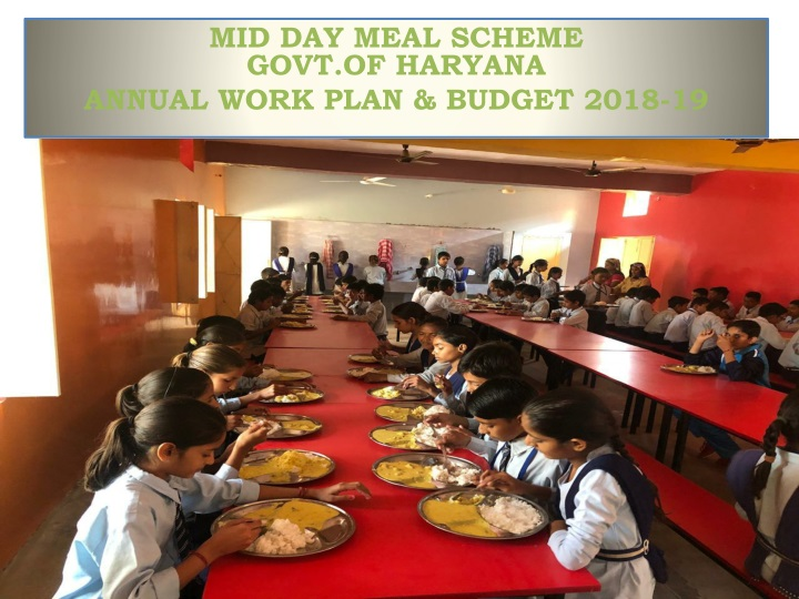 mid day meal scheme govt of haryana annual work plan budget 2018 19 n.