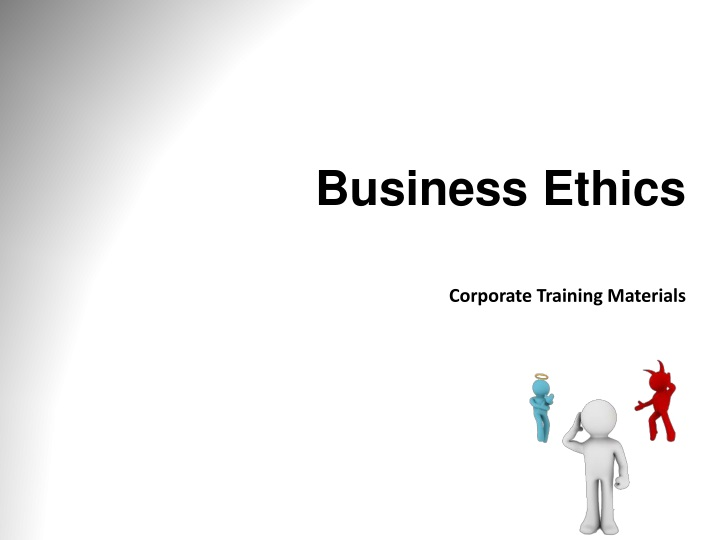 business ethics corporate training materials n.