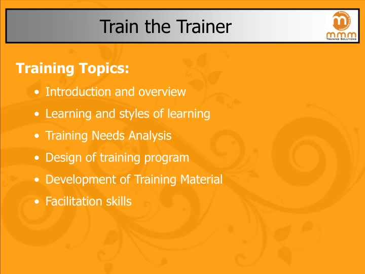 train the trainer n.