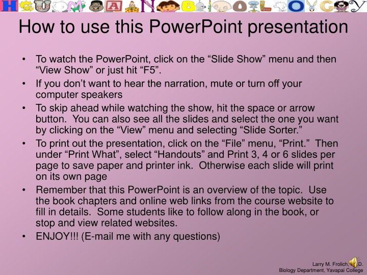 how to use this powerpoint presentation n.