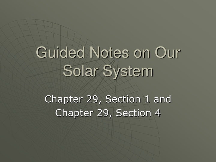 guided notes on our solar system n.