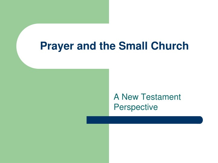 prayer and the small church n.