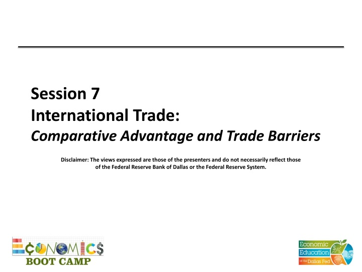 session 7 international trade comparative advantage and trade barriers n.