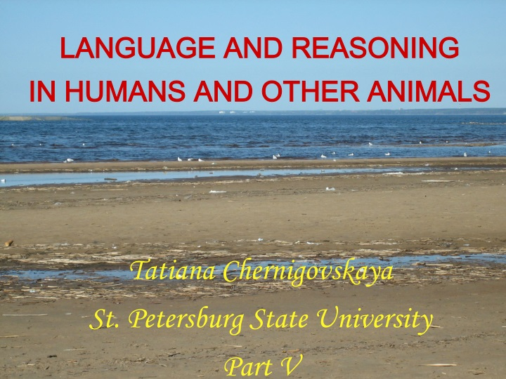 language and reasoning in humans and other n.