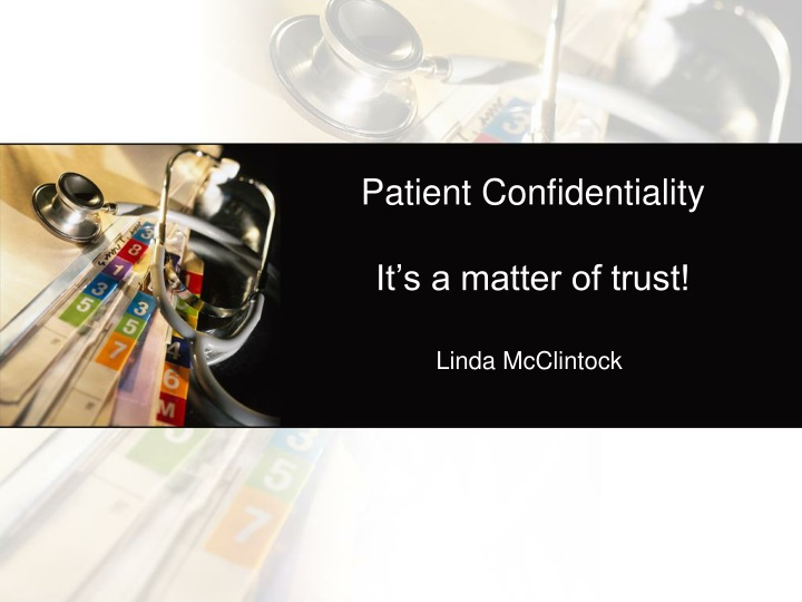 patient confidentiality it s a matter of trust n.
