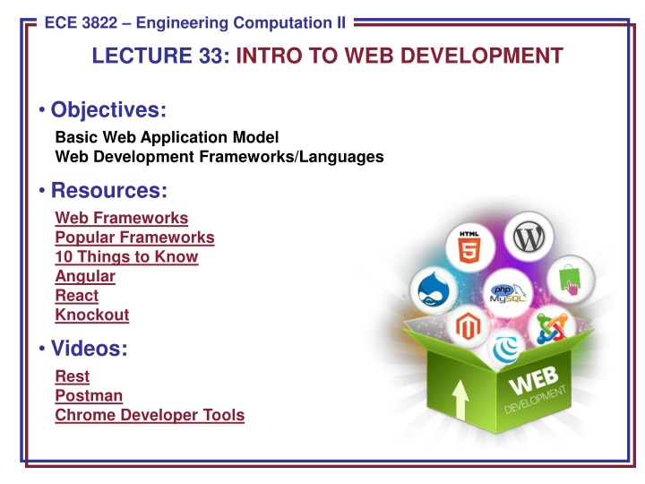 lecture 33 intro to web development n.