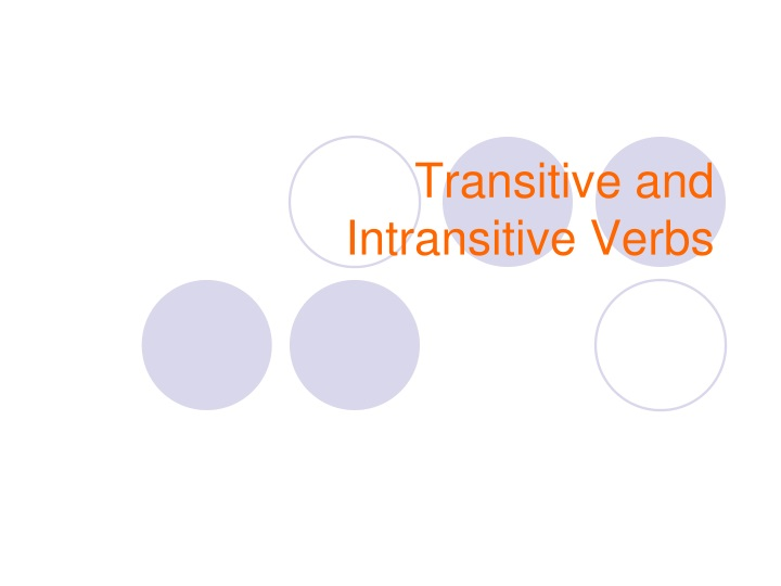 transitive and intransitive verbs n.