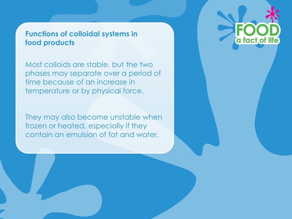 PPT - Functions of Colloidal Systems in Food Products ...
