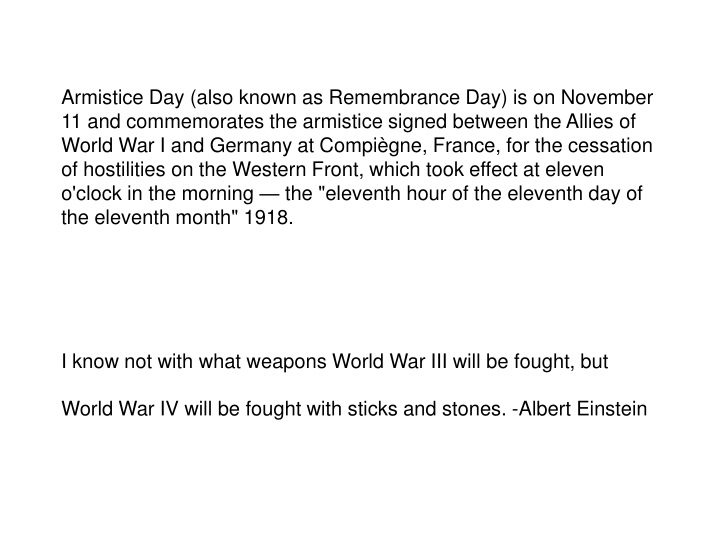 armistice day also known as remembrance n.