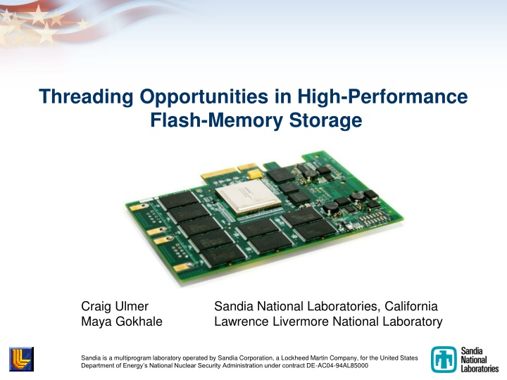 threading opportunities in high performance flash memory storage n.