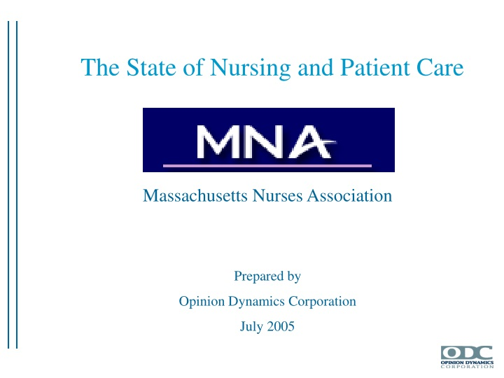 the state of nursing and patient care n.