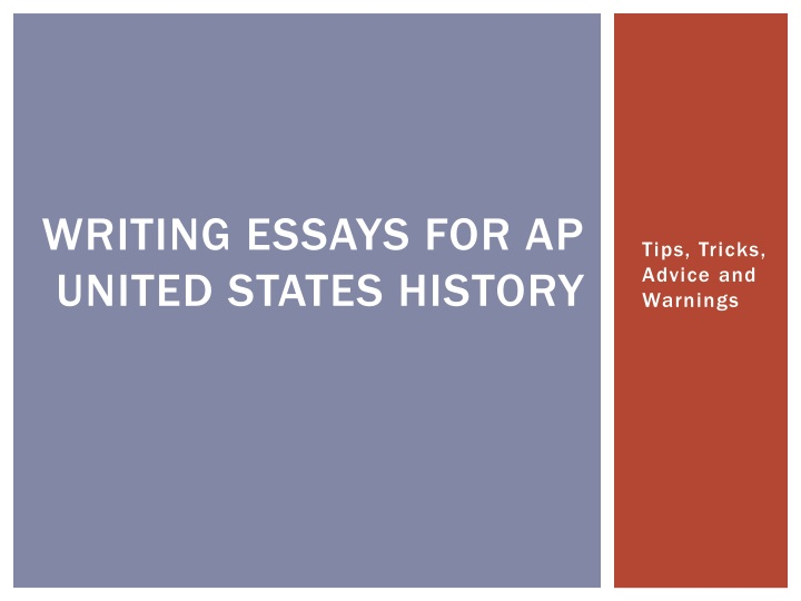writing essays for ap united states history n.