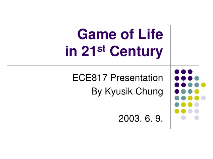 game of life in 21 st century n.