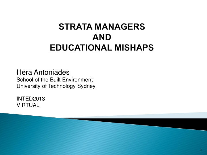 strata managers and educational mishaps n.