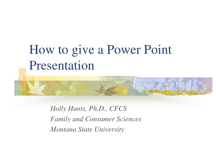 how to give a power point presentation n.