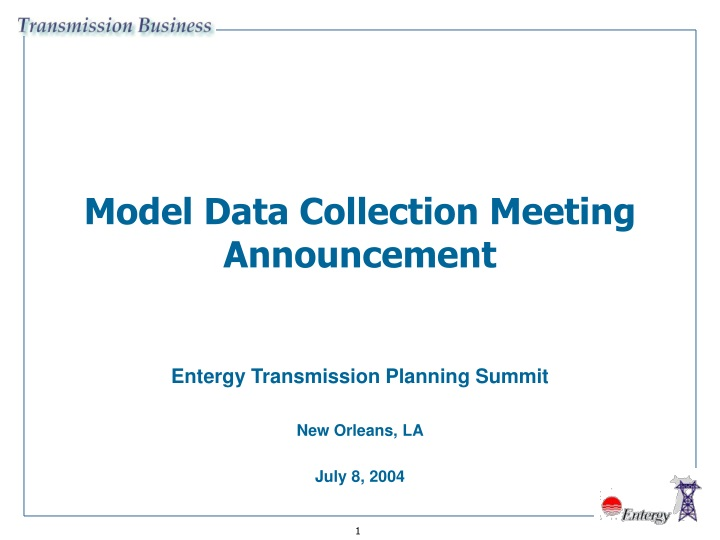 model data collection meeting announcement n.