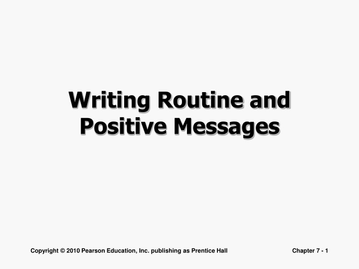 writing routine and positive messages n.