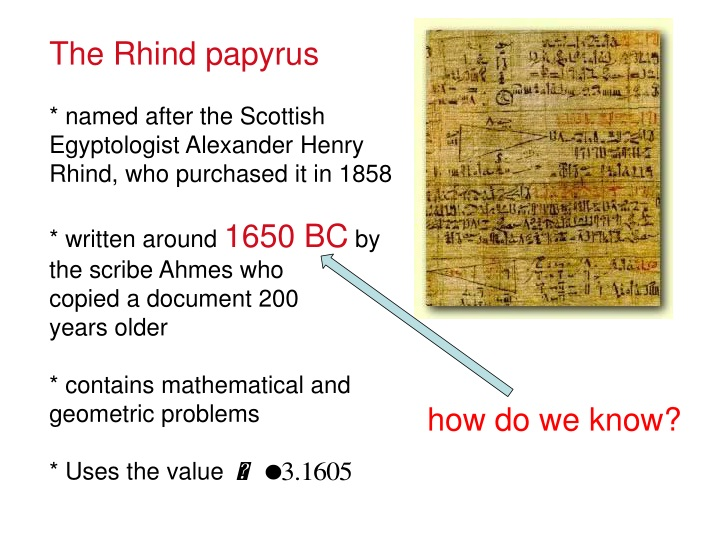 the rhind papyrus named after the scottish n.