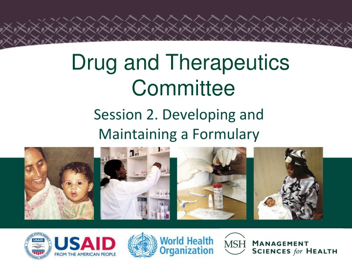 session 2 developing and maintaining a formulary n.