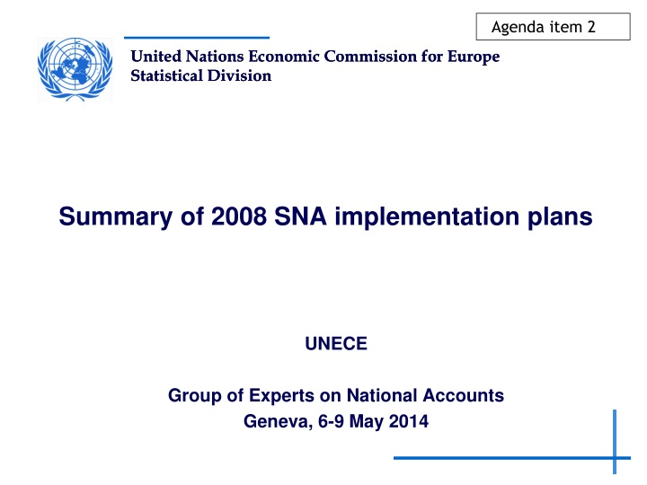 summary of 2008 sna implementation plans n.