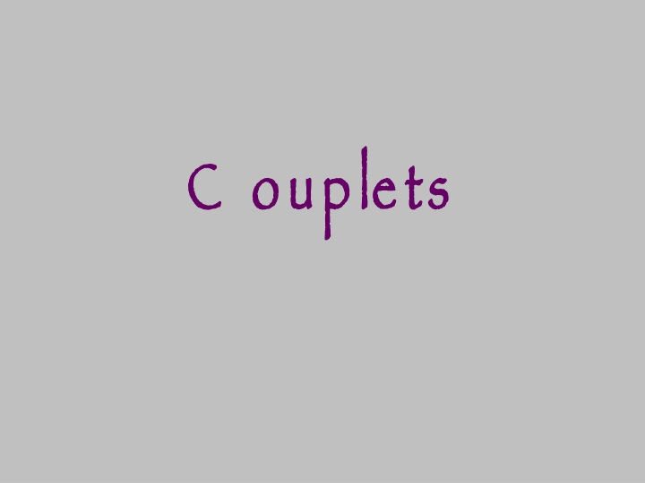 couplets n.