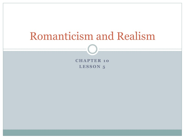 romanticism and realism n.