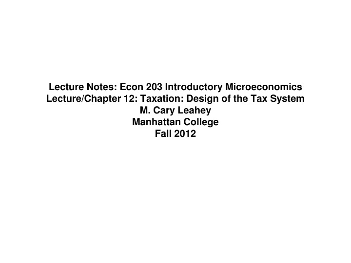 lecture notes econ 203 introductory n.