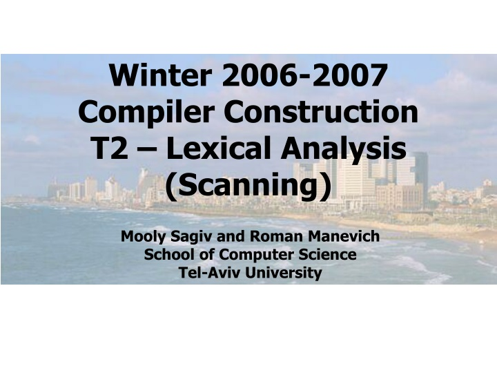 winter 2006 2007 compiler construction t2 lexical n.