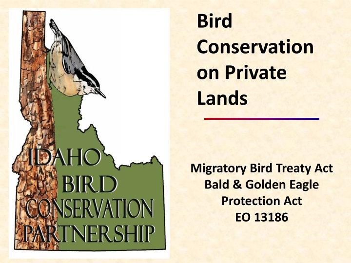 bird conservation on private lands n.
