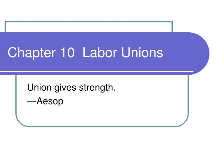 chapter 10 labor unions n.