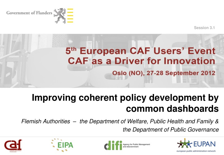 improving coherent policy development by common dashboards n.