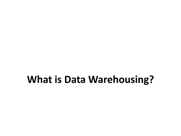 what is data warehousing n.