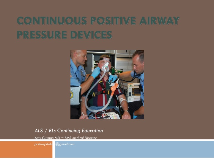 continuous positive airway pressure devices n.